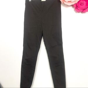 H&M jegging grey high rise elastic pull up size 6